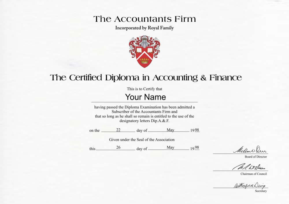 accounting certificate diploma