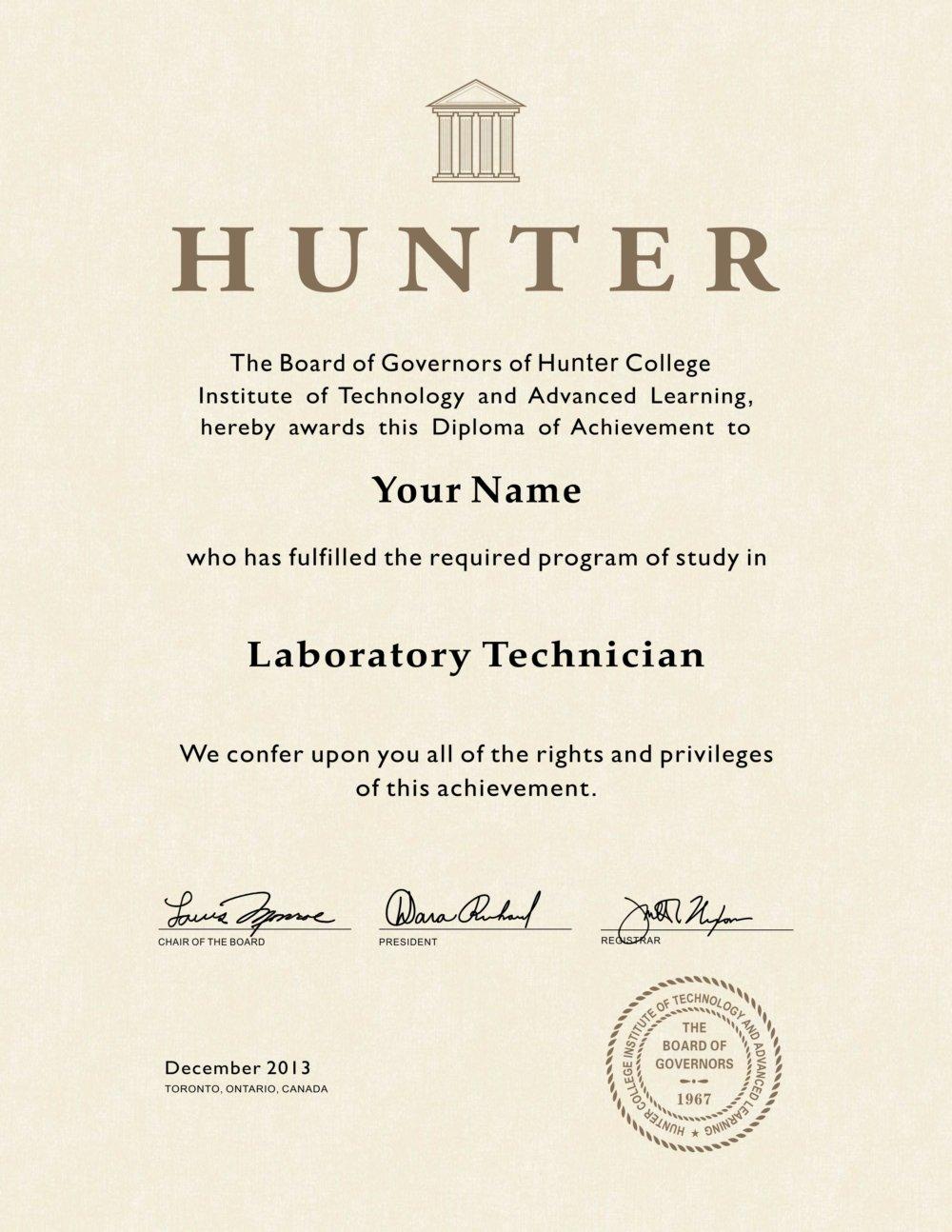 fake hunter college diploma