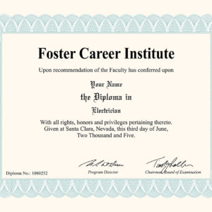 Fake Electrician Diploma