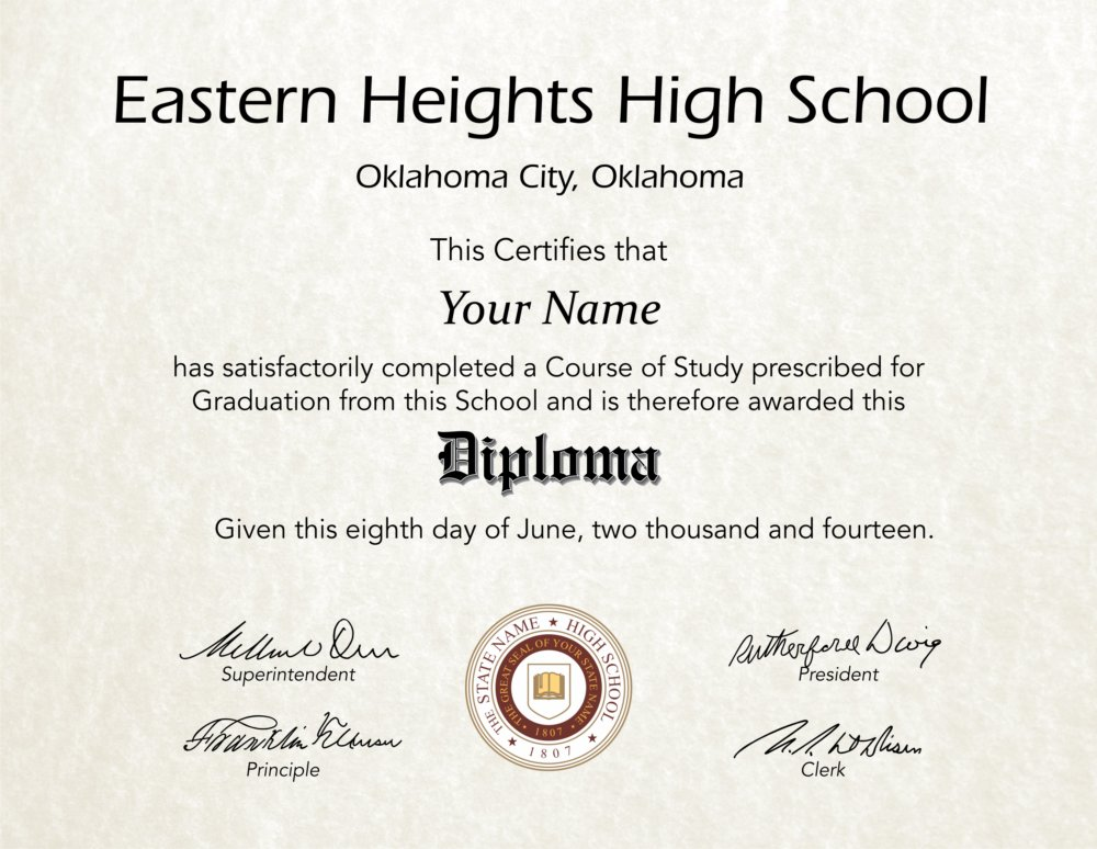 Fake High School Diploma 16 - Diploma Outlet