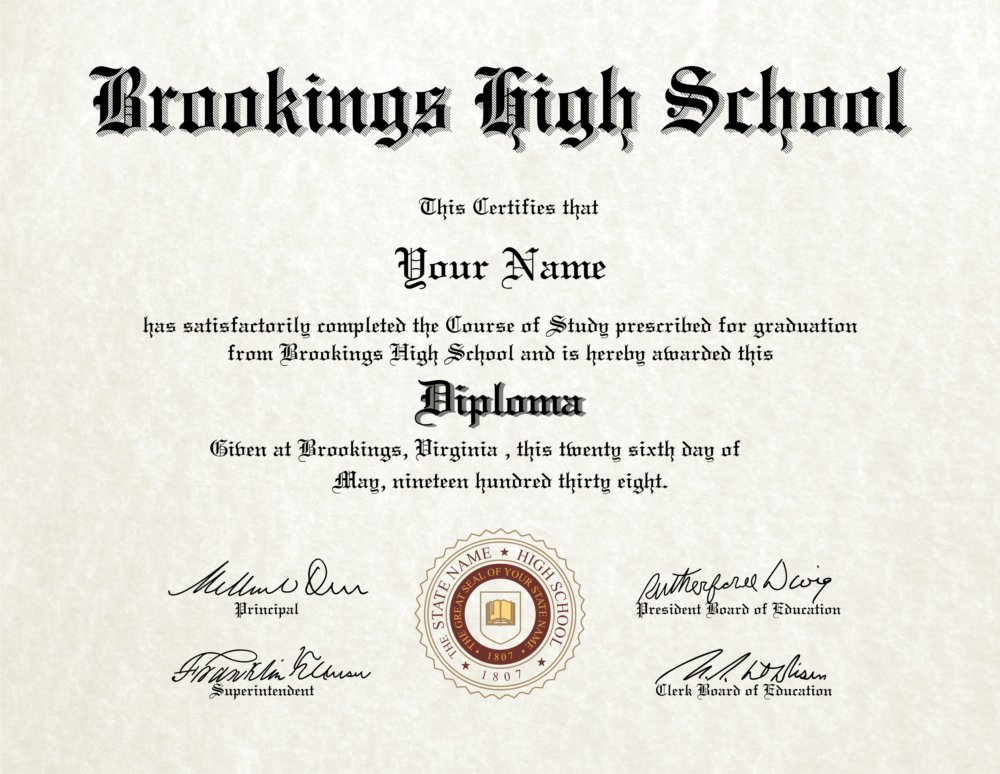 Fake High School Diploma 17 - Diploma Outlet