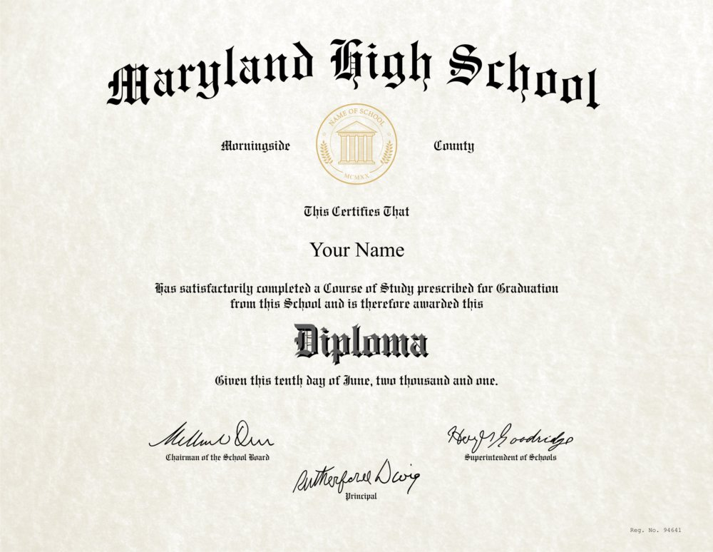 Fake High School Diploma 4 - Diploma Outlet