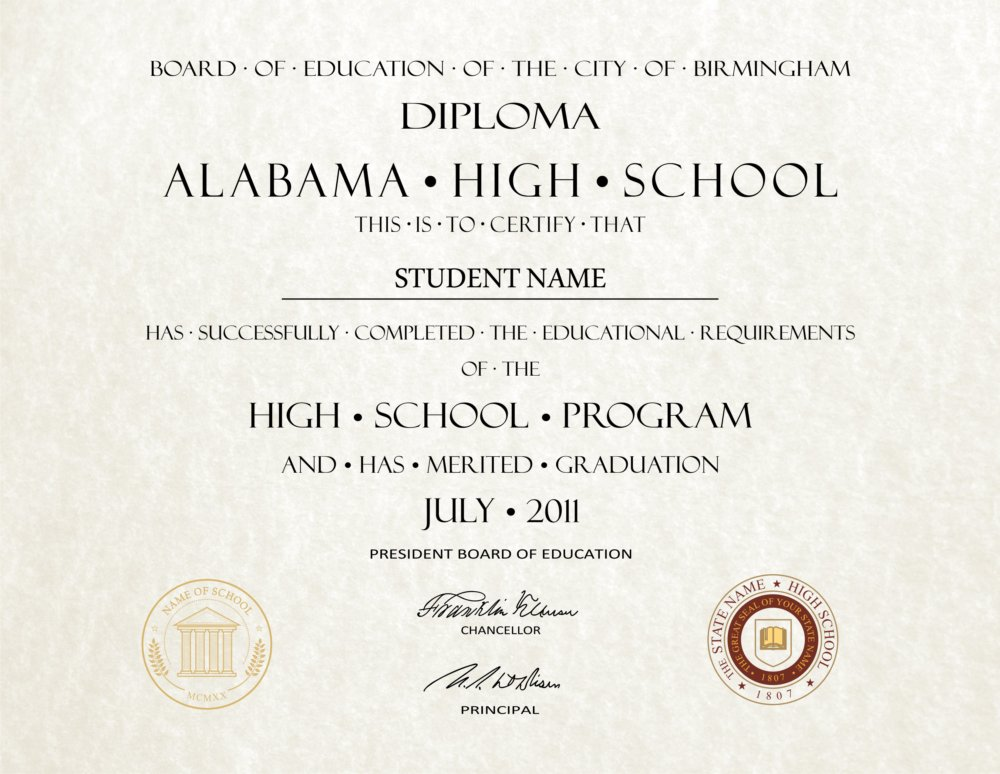 Fake High School Diploma 8 - Diploma Outlet