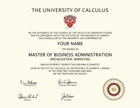 fake university of calculus diploma