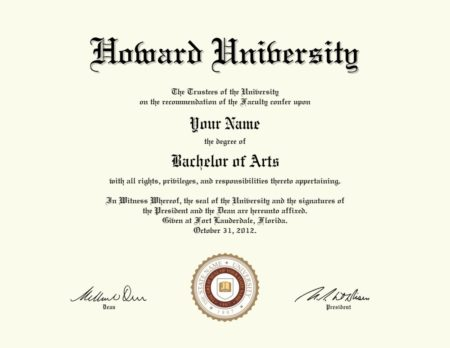fake howard university diploma