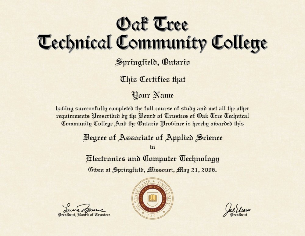 Fake College Diploma 5 - Diploma Outlet
