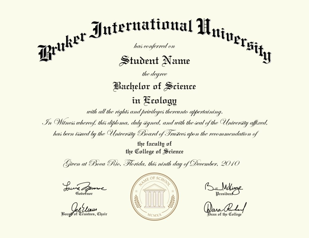 Fake Bruker International University Diploma Diploma Outlet